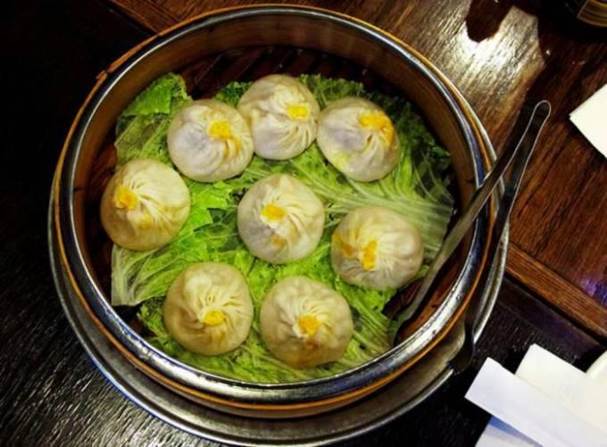 Китай, Шанхай — 10 вегетарианских пельменей