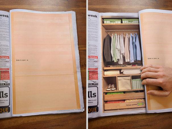Ikea: реклама шкафа-купе.
