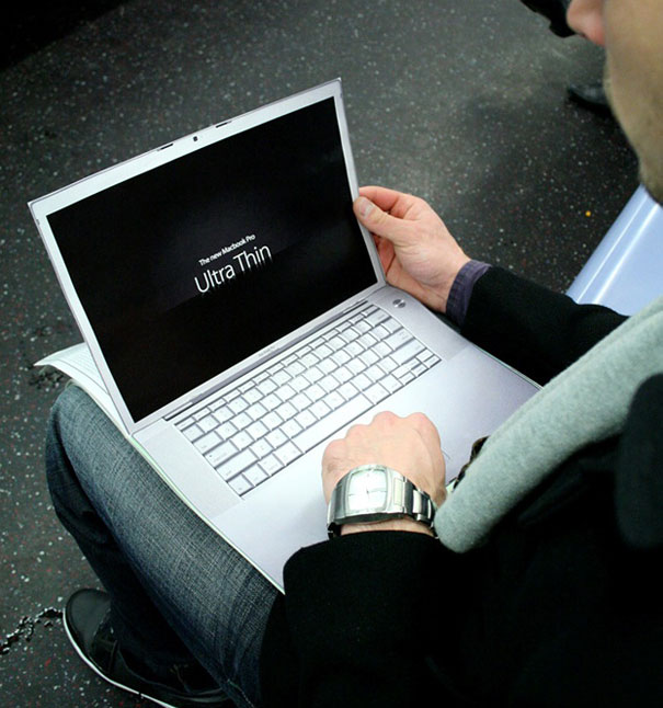 Реклама Macboook Pro от агентства Ultra Thin, Нью-Йорк, США.