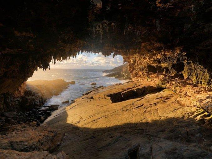 Пещера Kangaroo Island, Австралия.