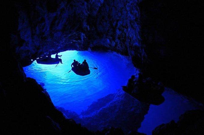 Голубая пещера, Хорватия.
