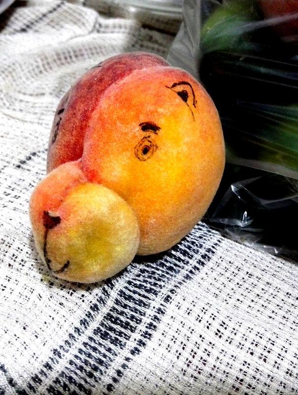 Персиковый мишутка.