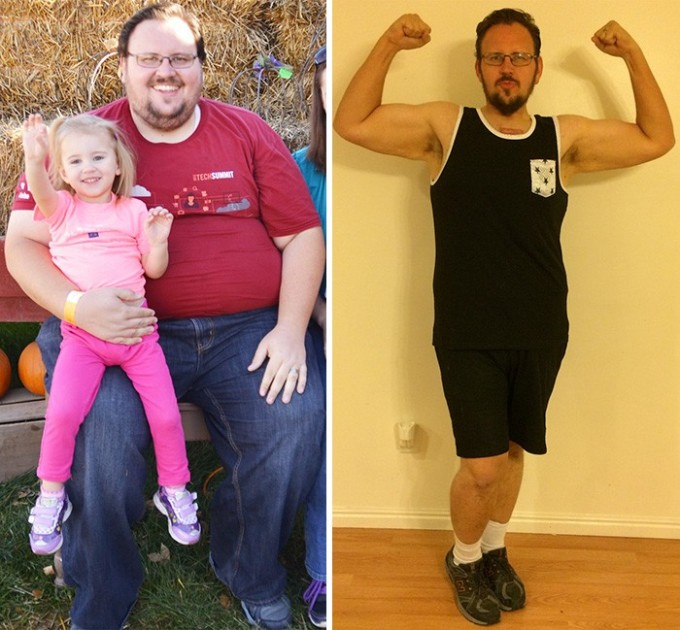 Родные, особенно дети, могут по-настоящему вдохновлять нас. Мужчина сбросил целую сотню килограмм всего за 8 месяцев.