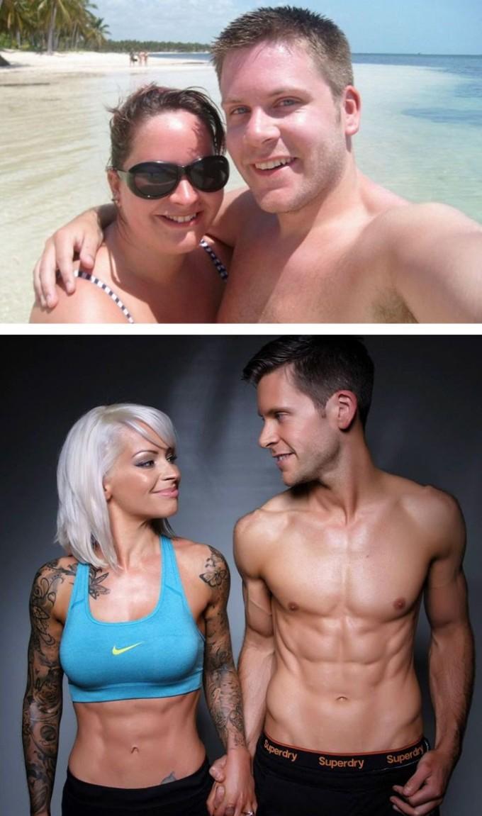 Эта пара решила сначала привести себя в форму, а уже потом идти к алтарю. Спустя 5 лет совместных усилий они наконец-то поженились!