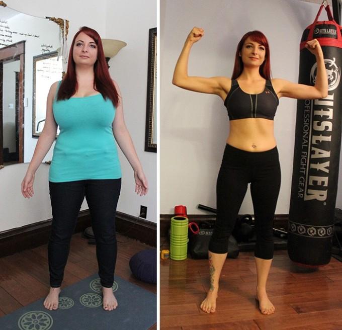 Девушка сделала свой выбор в пользу здорового образа жизни, и наконец-то почувствовала себя собой настоящей. Минус 21 кг за год.