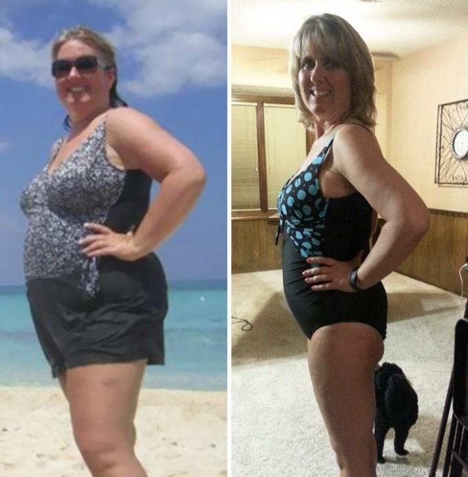В борьбе с лишним весом возраст не помеха. Как видно, 8 месяцев работы над собой не прошли напрасно.