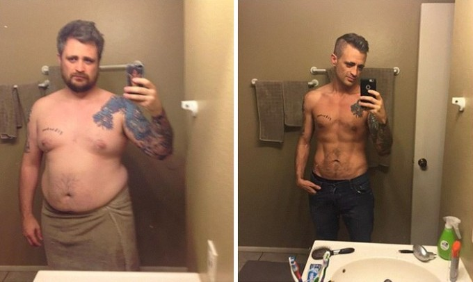Он сбросил 49 кг всего за год.