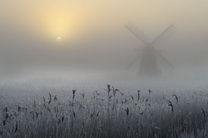 Морозный туман и изморозь