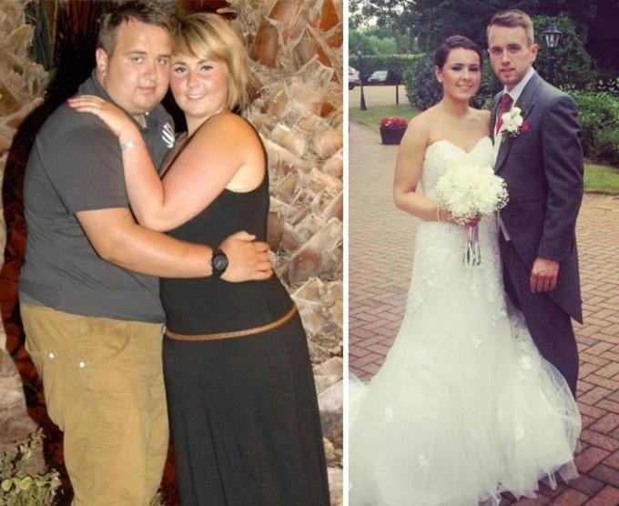 Еще одна пара, которая серьезно подготовилась к свадьбе. Вместе они сбросили 60 кг и теперь выглядят просто потрясающе.