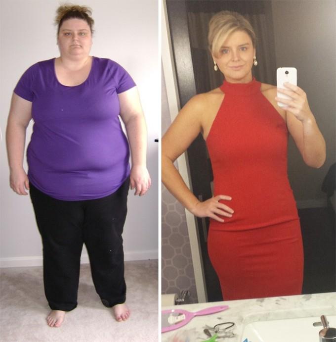 Если сбросить 115 кг, то можно позволить себе роскошное платье, подчеркивающее фигуру.