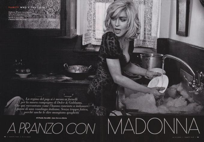Мадонна для Dolce & Gabbana, 2009 год.