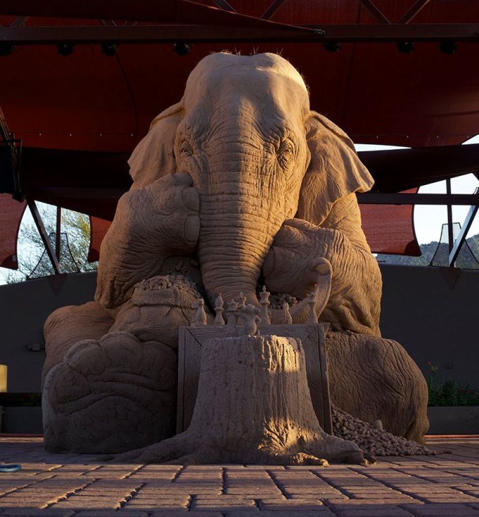 песочная скульптура-1