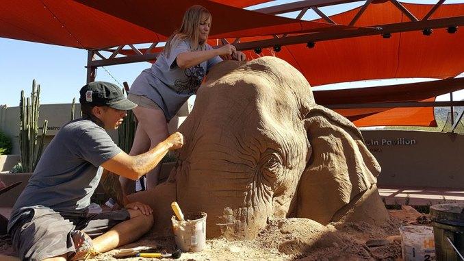 песочная скульптура-7