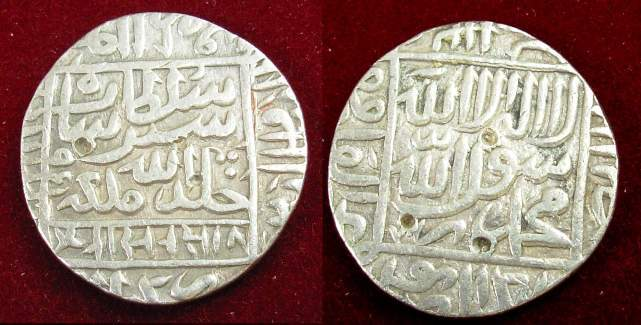 Рупия, начеканенная во время правления Шер-хана (1540–1545)