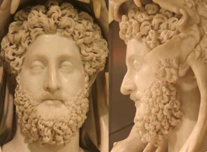Голова статуи императора Коммода в образе Грекулеса. Дворец Консерваторов. Музеи Капитолия, Рим