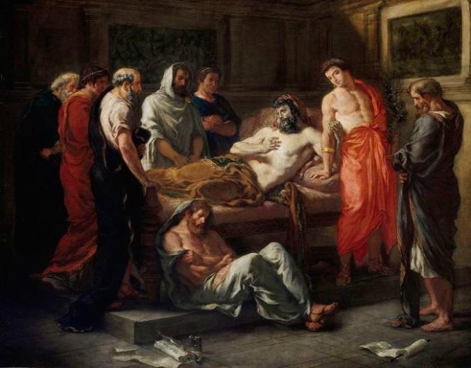 Э. Делакруа. Марк Аврелий перед смертью передаёт власть Коммоду, 1844