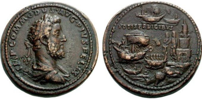 Монеты с изображением Коммода