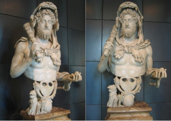 Коммод в образе Геркулеса