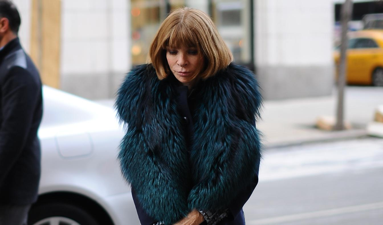 NEW YORK, NY - FEBRUARY 07: Anna Wintour arrives at the Edun show on February 7, 2013 in New York City. (Photo by Rommel Demano/Getty Images)