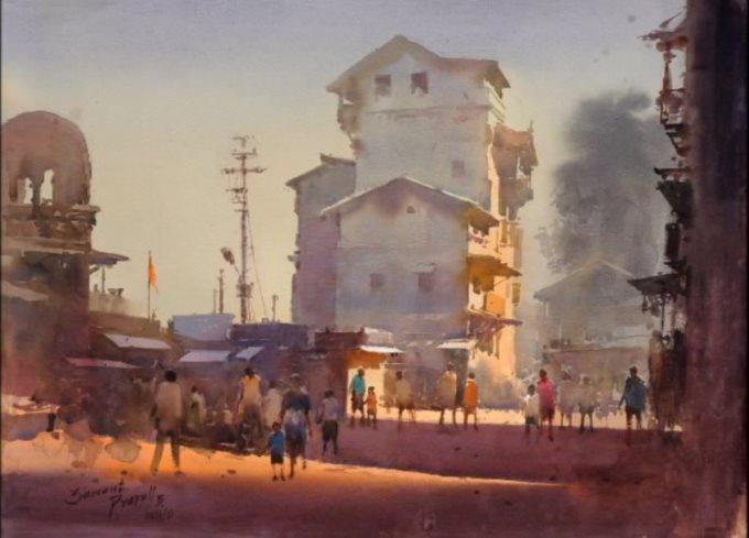 Прафул Савант, «Рассвет в Назике», Индия